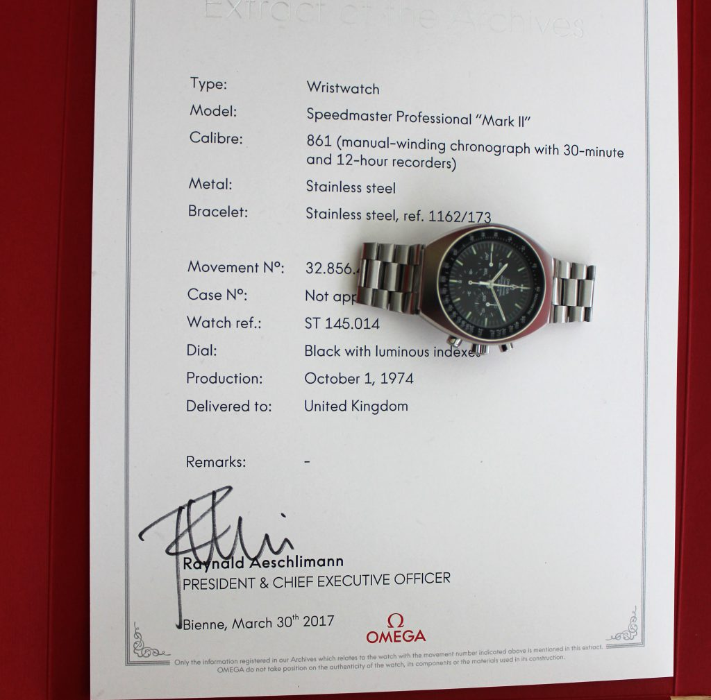 Omega Speedmaster Mark II - 145.014 -- Vintage Watch Advisors