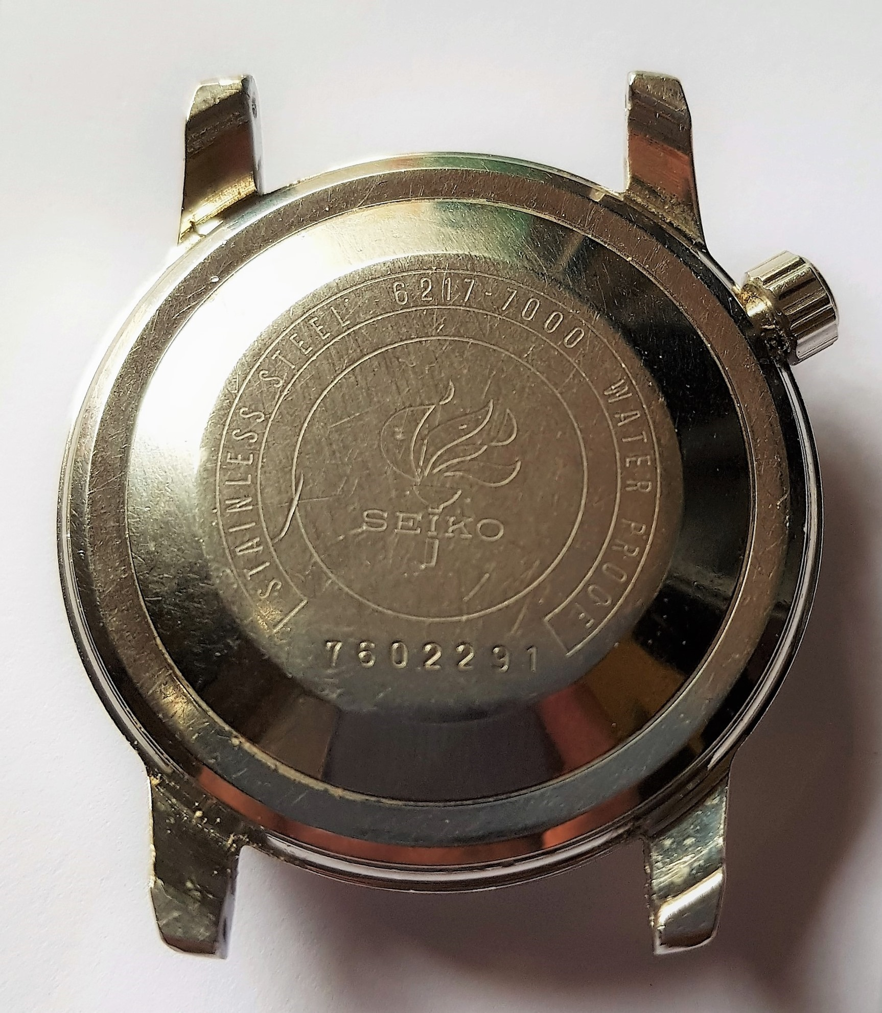 Seiko 6217-7000 World Time Olympic case back