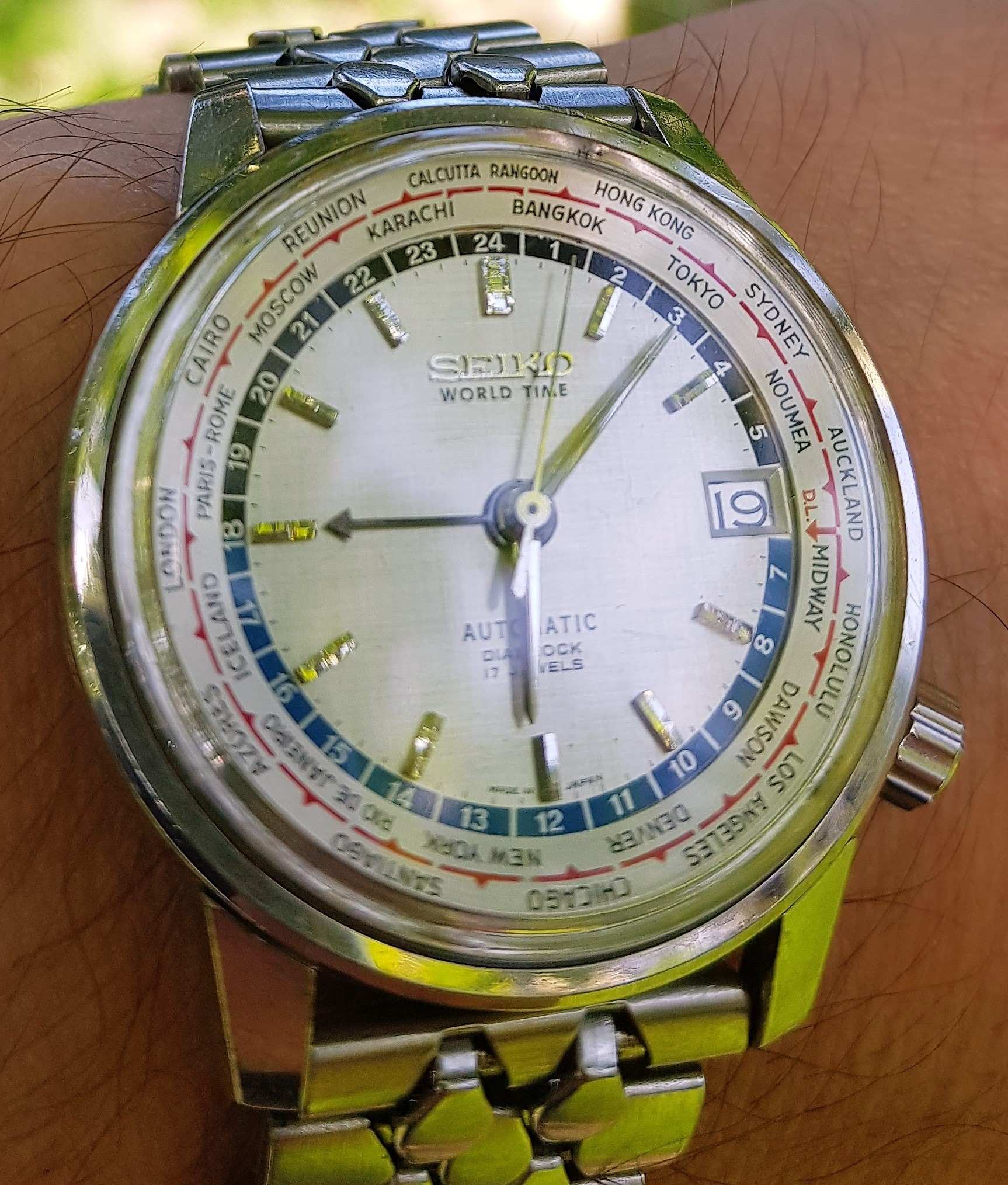 Seiko World Time 6217-7000 London time