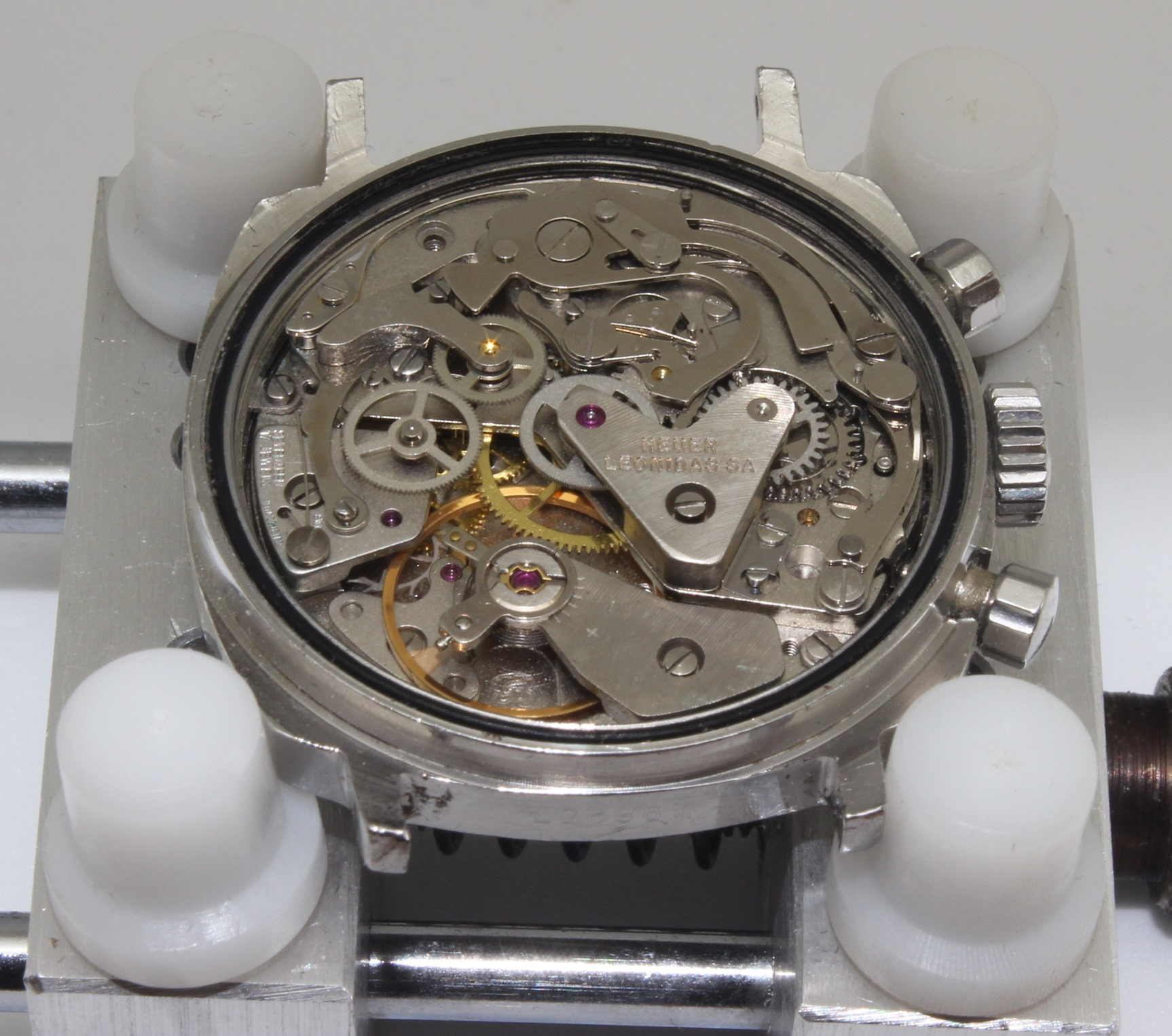 Valjoux 7733 movement from Heuer Camaro 73343N  -- Vintage Watch Advisors